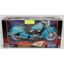 BABY BLUE DIE CAST INDIAN MOTOR CYCLE 1/6 SCALE