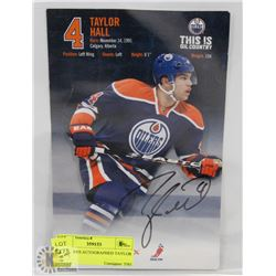 5X9 OILERS AUTOGRAPHED TAYLOR HALL