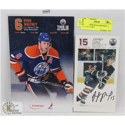 AUTOGRAPHS-RYAN WHITNEY, 2 JOFFERY LUPUL
