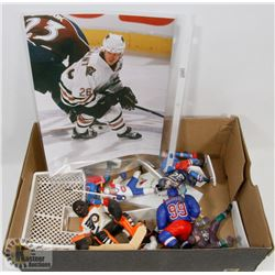 BOX OF ASSORTED HOCKEY ACTION FIGURES