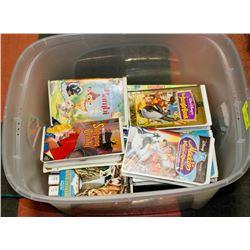 CLEAR BIN W/29 WALT DISNEY VHS