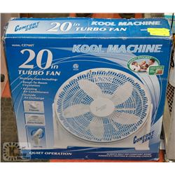 "COMFORT ZONE 20"" KOOLMACHINE TURBO FAN."