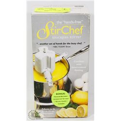 THE HANDS FREE STIR CHEF SAUCE PAN STIRRER