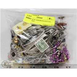 OVER 1LB OF ASSORTED ESTATE JEWELRY.