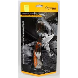 NEW! OLYMPIA EDGE 3 IN 1 SURVIVAL MULTI CUTLERY