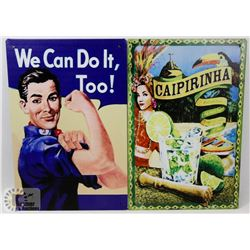 LOT OF TWO NEW! 12  X 8  METAL SIGNS