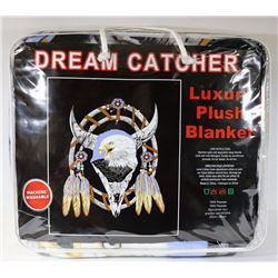 NEW!  DREAM CATCHER  LUXURY PLUSH BLANKET (QUEEN)