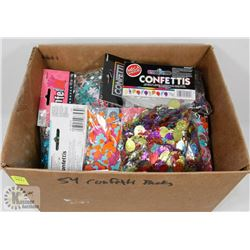 LOT OF 54 CONFETTI PACKS