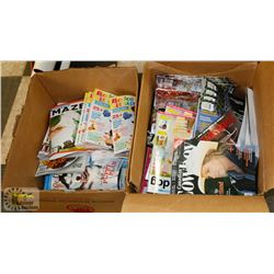 TWO BOXES OF ASSORTED MAGAZINES