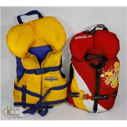 PAIR OF KIDS LIFE JACKETS