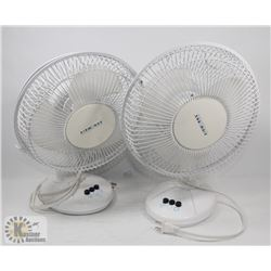 "PAIR OF 10"" AIRWORKS TABLE FANS, 3 SPEED"