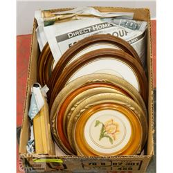 BOX OF ASSORTED COLLECTIBLE PLATES