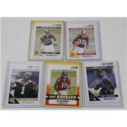 LOT OF 5 FOOTBALL ROOKIE CARDS INCL AUSTIN PETTIS