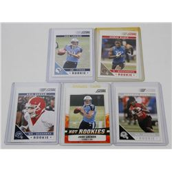 LOT OF 5 FOOTBALL ROOKIE CARDS INCL KRIS DURHAM