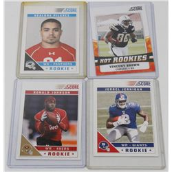 LOT OF 4 FOOTBALL ROOKIE CARDS INCL VINCENT BROWN