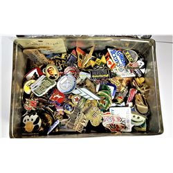 4)  ENAMELED EMBOSSED COLLECTOR TIN