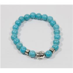 #8-NATURAL BLUE TURQUOISE BEAD BRACELET