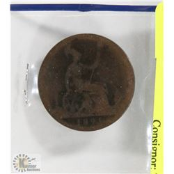 1891 ENGLISH LARGE PENNY.