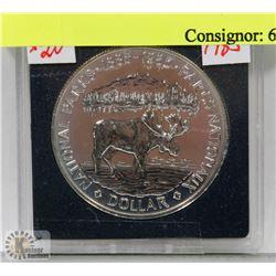 1985 CANADA SILVER $1 COIN