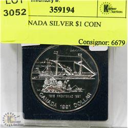 1991 CANADA SILVER $1 COIN