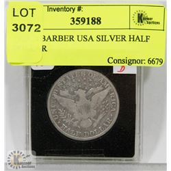 1913 D BARBER USA SILVER HALF DOLLAR