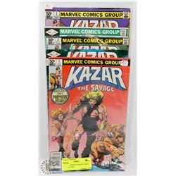 LOT OF 5 MARVEL KAZAR COMICS FOR THE 1960'S