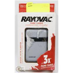 RAYOVAC PHONE CHARGER (6,000mAh)