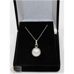 #58-FRESH WATER PEARL PENDANT & NECKLACE