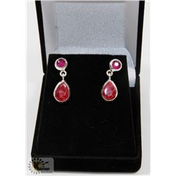 #56- NATURAL RED RUBY DANGLING EARRINGS