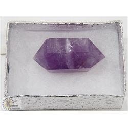 #95-AMETHYST CRYSTAL QUARTZ  2 POINT HEALING STONE
