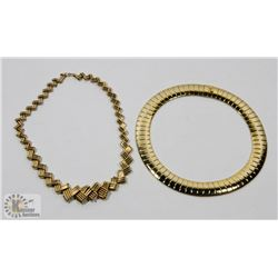 LOT OF TWO GOLD TONE NECKLACES
