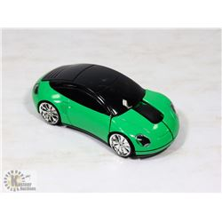 NEW GREEN CAR SHAPED WIRELESS MOUSE