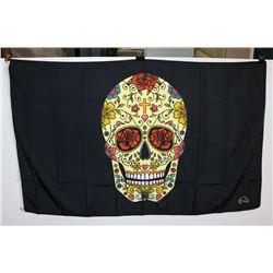 SUGAR SKULL FLAG (3' X 5')