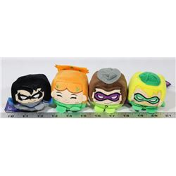 LOT OF 4 NEW DC COMICS CUBE PLUSHES