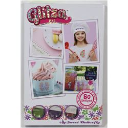 NEW GLITZA ART: SWEET BUTTERFLY GLITTER ART SET