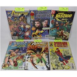 COLLECTION OF 6 MARVEL AND DC #1 COMICS
