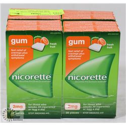 8 PACKS OF NICORETTE GUM, 30 PIECES PER PACK. 2MG.
