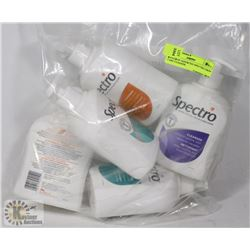 BAG OF ASSORTED SPECTRO SKIN CARE CLEANER.