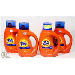LOT OF 4 TIDE 1.09L LAUNDRY DETERGENT.
