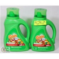 LOT OF 2 GAIN 1.47L LAUNDRY DETERGENT.
