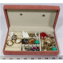TRAVEL SIZE JEWELRY BOX WITH CONTENTS