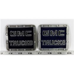 TWO GMC TRUCKS BELT BUCKLES