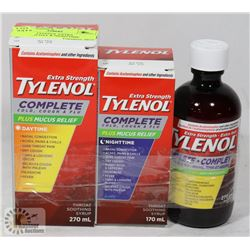 LOT OF 3  TYLENOL EXTRA STRENGTH DAY & NIGHTTIME