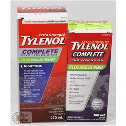 LOT OF 2  TYLENOL EXTRA STRENGTH COMPLETE NIGHT