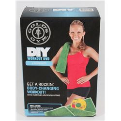 NEW! GOLD GYMS DIY WORKOUT DVD