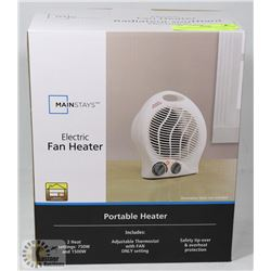MAINSTAYS ELECTRIC FAN HEATER.