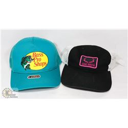 2 WOMENS BASS PRO SHOP HATS