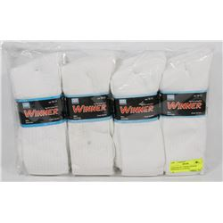 PACKAGE OF 12 WHITE WINNER MENS SIZE 10-13 SOCKS