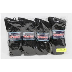 PACKAGE OF 12 BLACK WINNER MENS SIZE 10-13 SOCKS