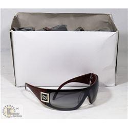 BOX OF CHANEL REPLICA DESIGNER SUNGLASSES, WINE